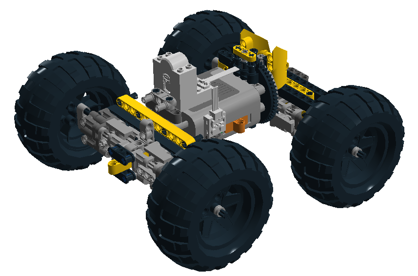 My first model with LDD (LEGO Digital Designer)
