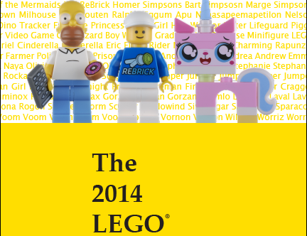 The 2014 LEGO Minifigure Catalog is now available