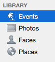 Events in iPhoto