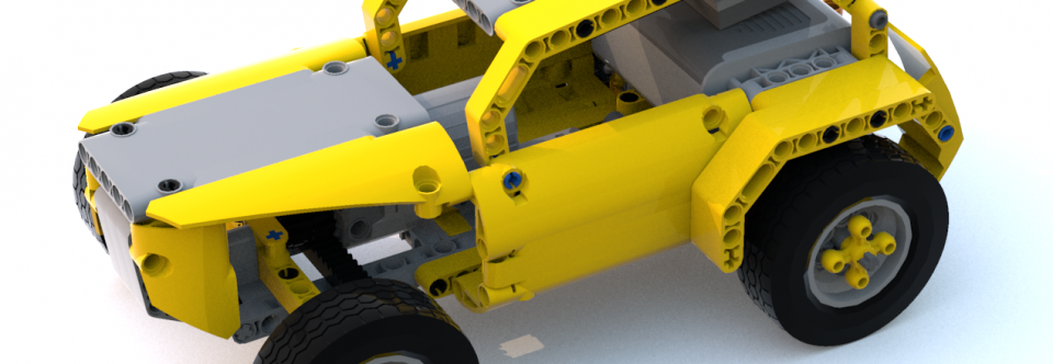 Yellow Buggy – A tiny and robust RC LEGO car