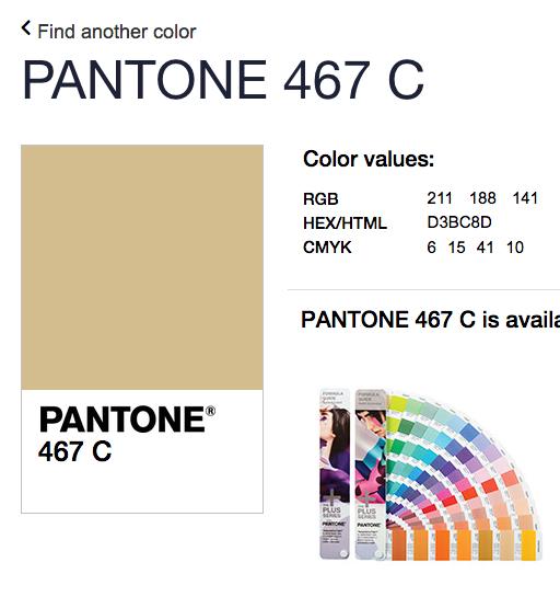 pantone 467 c definition