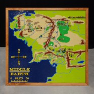 Topographical LEGO Map of Middle Earth