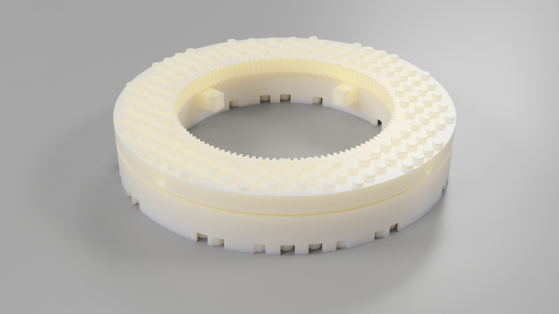 LEGO compatible thrust ball bearing