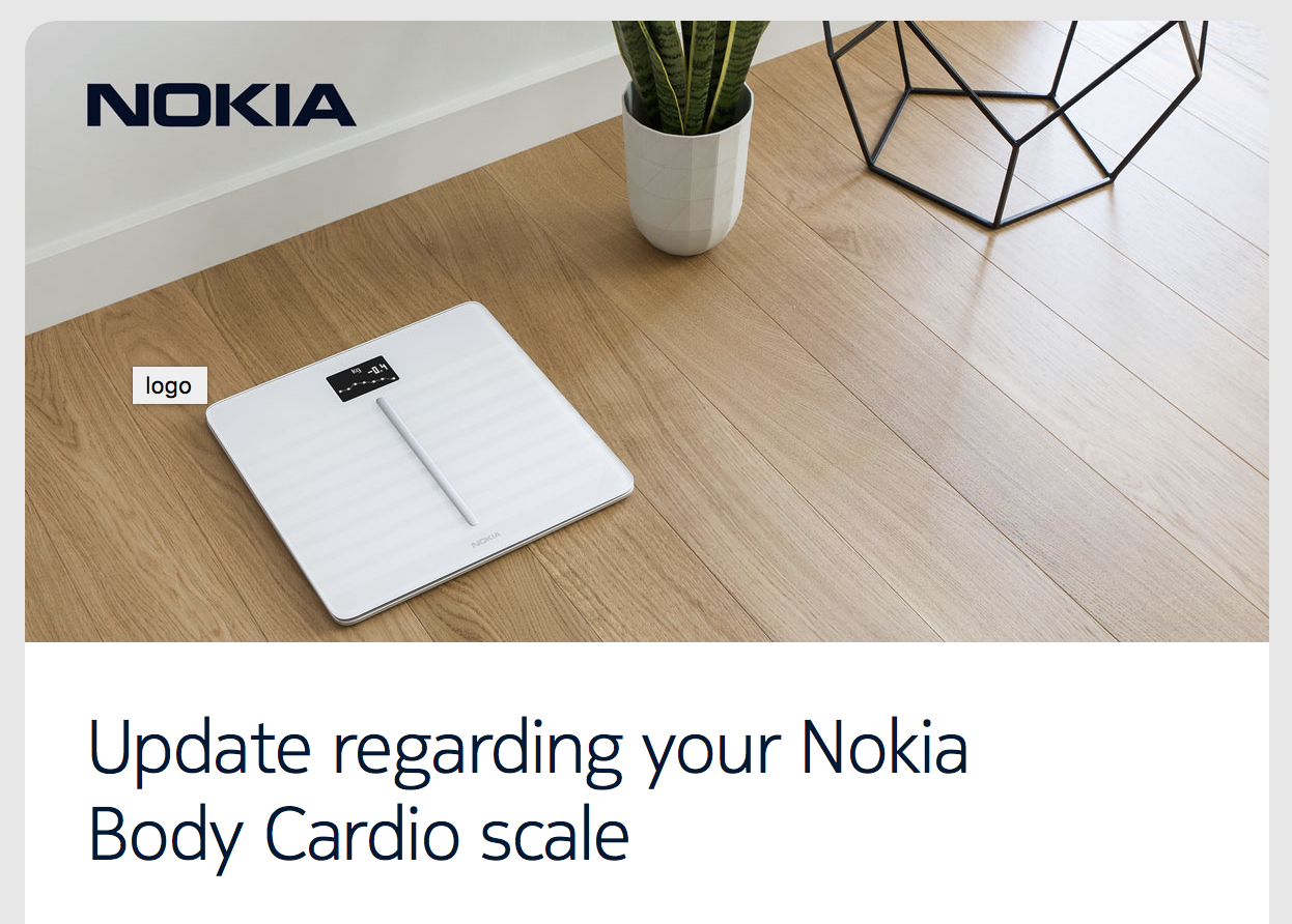 Nokia's Body Cardio Scale Will Remove Pulse Wave Velocity