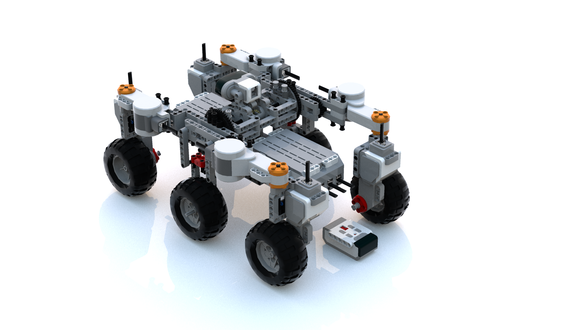 Simple LEGO Mindstorms Mars Rover